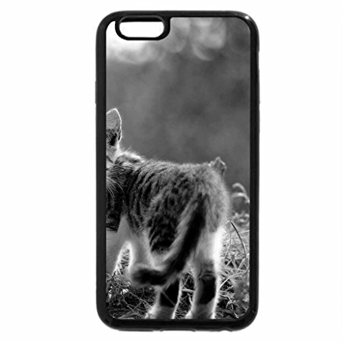 iPhone 6S Case, iPhone 6 Case (Black & White) - Lovely Cat