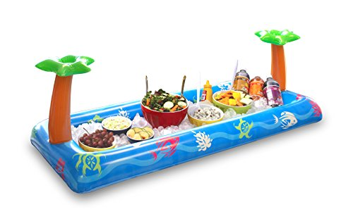 BigMouth Inc. Tropical Party Inflatable Buffet, Inflatable Drink Holder and Cooler for Parties, Pools, Etc. -