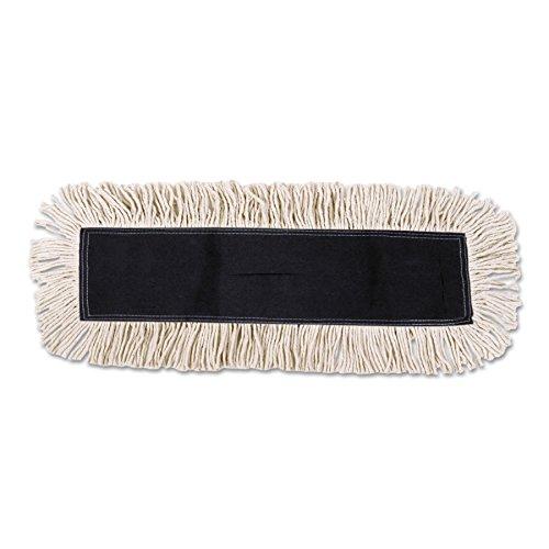 Synthetic Dust Mops - Boardwalk 1648 Mop Head, Dust, Cotton/Synthetic Fibers, 48 x 5, White