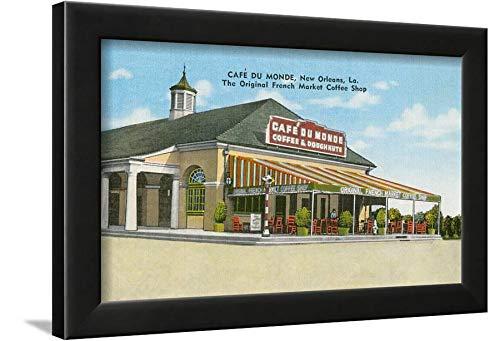 e, New Orleans, Louisiana Black Wall Art Framed Print, 12x16 in ()