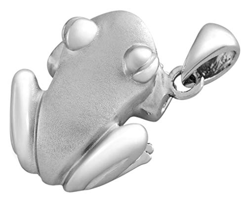 Coquí (Tree Frog) Solid Sterling Silver .925 Pendant Matte ()