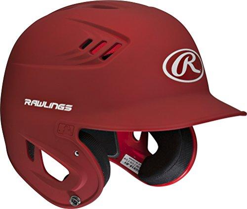 Rawlings 80 MPH Matte Alpha Sized Batting Helmet, Scarlet, Small