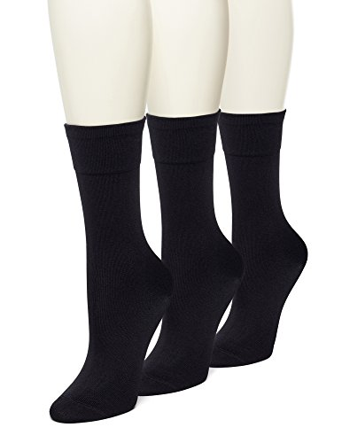 Ultra Smooth Sock 3-Pack, Black 4-10 ()