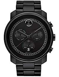 Mens Bold Large Metals Chronograph Watch with Printed Index Dial, Black (3600484)