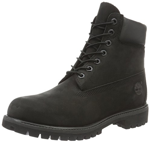 Timberland Men's 6 inch Premium Waterproof Boot, Black Nubuc
