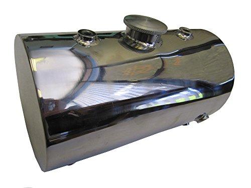 Stainless Steel Oil Tank for Custom Motorcycles / Harley Chopper Bobber - Round ()