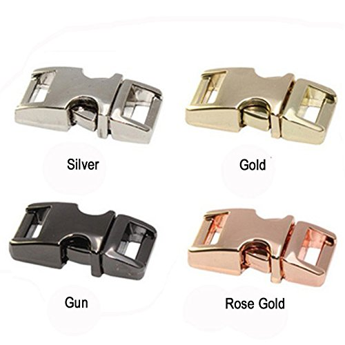 l Contoured Side Release Buckle for Paracord Bracelet/Dog Collar (Gold) ()