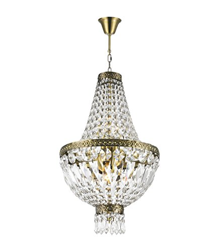 Antique Bronze Finish Crystal - Worldwide Lighting W83088B12 Metropolitan 5 Light Mini Chandelier, Antique Bronze Finish and Clear Crystal, 12