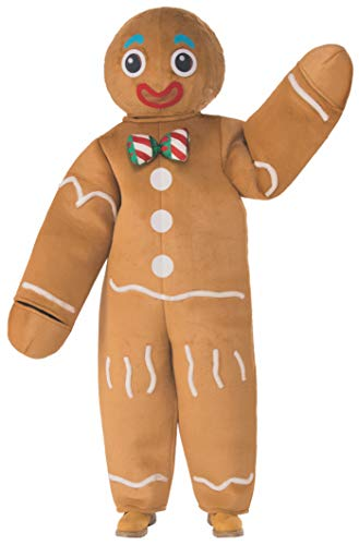 Rubie's Unisex-Adult's Standard Oversized Gingerbread Man Mascot Costume, as as Shown, One Size