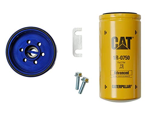 2 Micron CAT Fuel Filter Sinister Diesel CAT Filter Adapter for 2001-2010 GMC Duramax /& CHEVY