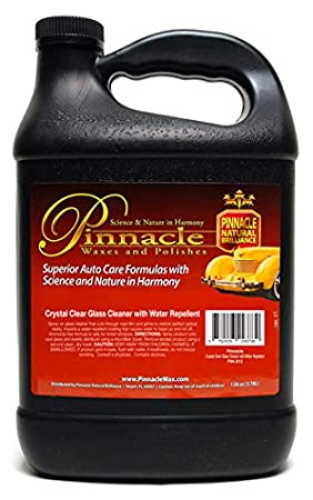 Pinnacle Natural Brilliance PIN-812 Crystal Clear Glass Cleaner Repellent, 128 fl. oz.
