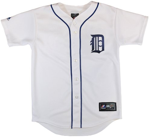 MLB Detroit Tigers Boy's Replica Jersey, White, Medium(5/6)