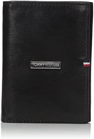 Tommy Hilfiger Men's Tommy Hilfiger Men's Leather Trifold Billfold Wallet With Metal Logo