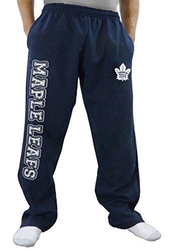 NHL Men's Premium Fleece Official Team Sweatpants (Toronto Maple Leafs, X-Large)