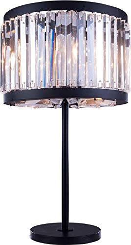Elegant Lighting Table Lamp Chelsea 4-Light Clear Crystal Mocha Brown Royal Cut New E12 - Chelsea Lamp Table Crystal