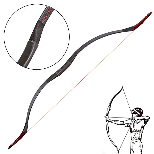 Toparchery アーチェリー用弓 弓道練習専用弓 弓 30-55インチ 40lbs ロングボウ高品質 (50)
