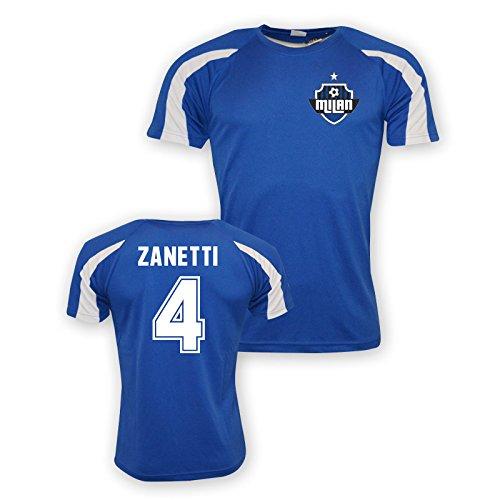 Javier Zanetti Inter Milan Sports Training Jersey (blue) - - Milan Training Shirt