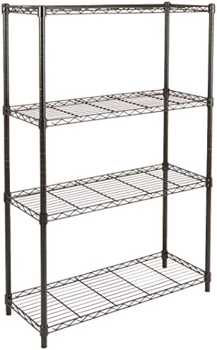 AmazonBasics 4 Shelf Shelving Unit Black product image