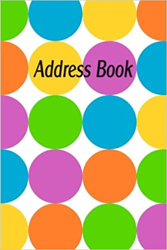 address book blank telephone address book colorful circles