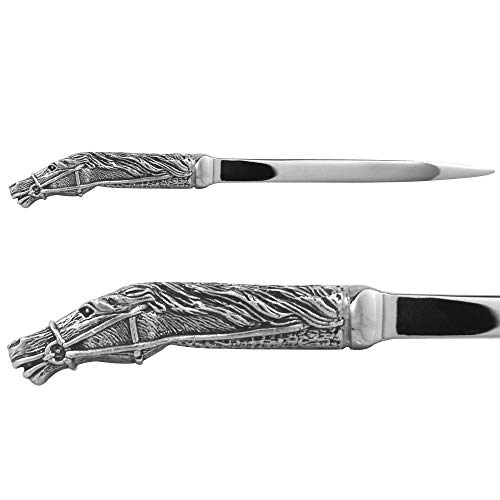 - English Pewter Company Horse Head Handle Pewter Letter Opener [CSP23]