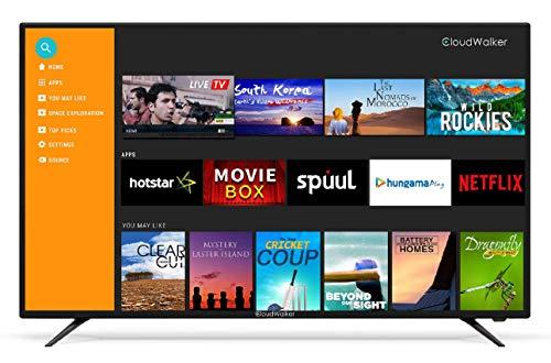 CloudWalker 138 cm (55 Inches) Full HD QLED Smart TV Cloud TV 55SFX2 (Black)