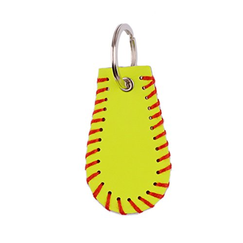 L&N Rainbery Leather Sports Key Chain Softball Stitch Keychain Accessories -