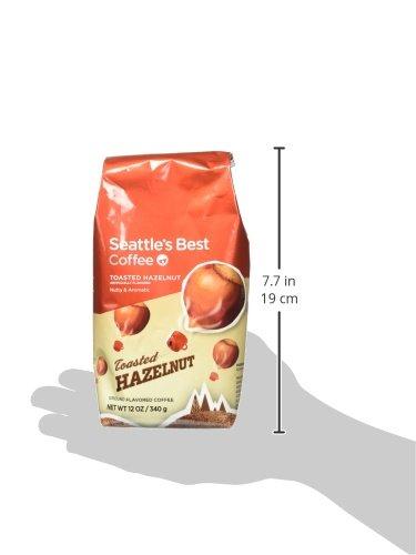 Seattle's Best Coffee Toasted Hazelnut Flavored Medium Roast Ground Coffee, 12 Ounce (Pack of 1)