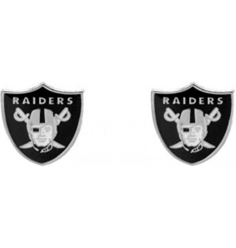 NFL Officially Licensed Logo Stud Earrings (Oakland Raiders)