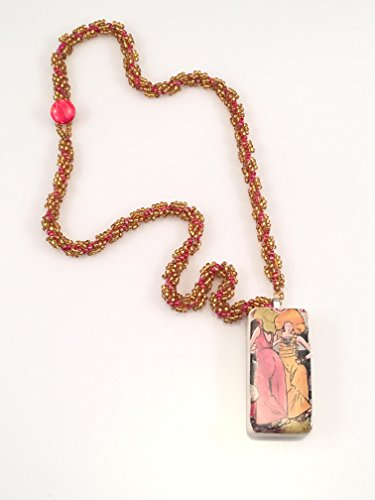 (Multi Colored Domino Beaded Necklace)