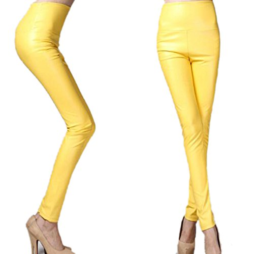HOUBL New Winter Skinny PU Leather Leggings Slim Shaper Pants Thick High Waist Slim