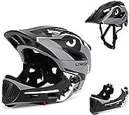 Lixada Kids Bike Helmet Adjustable Detachable Full Face Helmet for Children Bicycle, Skateboard, Scooter, Roll