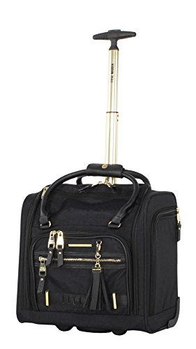Steve Madden Luggage Wheeled Suitcase Under Seat Bag (Peek-A-Boo Black)