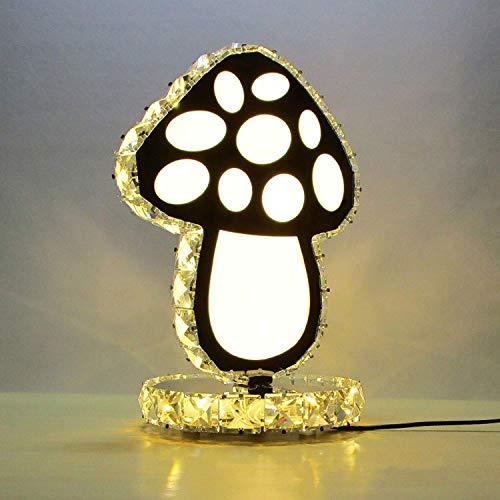 ZYY Lampe de table en cristal champignon minimaliste moderne, Art personnalité créatif chambre lampe de chevet décoratif lampe mode maison salon bureau lampe (conception  lumière jaune)