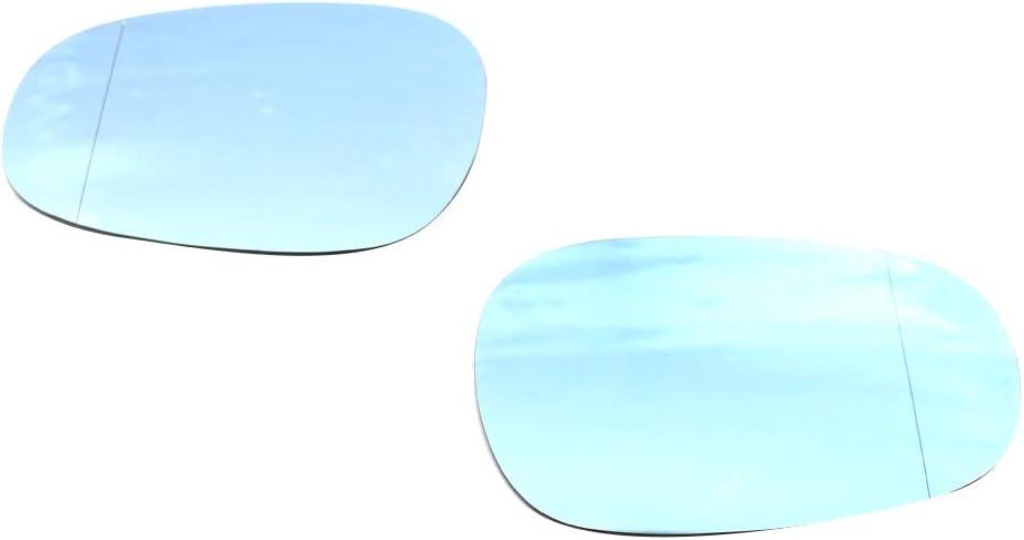 51167252893 51167252894 Blaues Glas Links + Rechts Moligh doll Seiten Spiegel Glas f/ür E81 E88 E90 E91 E92 116I 2009-2012 T/üR Spiegel Glas Beheizt