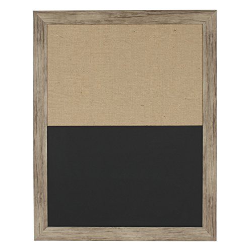 Combination Chalkboard - DesignOvation Beatrice Framed Combination Magnetic Chalkboard and Fabric Pinboard