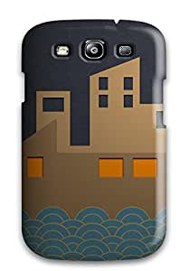 7494957K81408325 New Super Strong Creative City Moon Tpu Case Cover For Galaxy S3