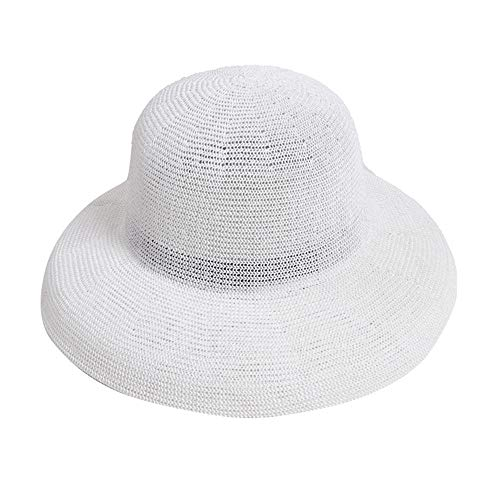Papers Cardiff - Ms. Summer Fishing Cardiff Handmade Crochet Solid Color Paper Xicao Collapsible Sun hat