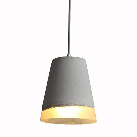 Industrial Retro Lámpara Colgante Resina Vintage E27 Cemento ...