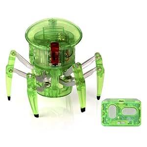 Hexbug - Araña, insecto electrónico de radiocontrol con diseño robótico, 2 canales, color verde (451-1652)