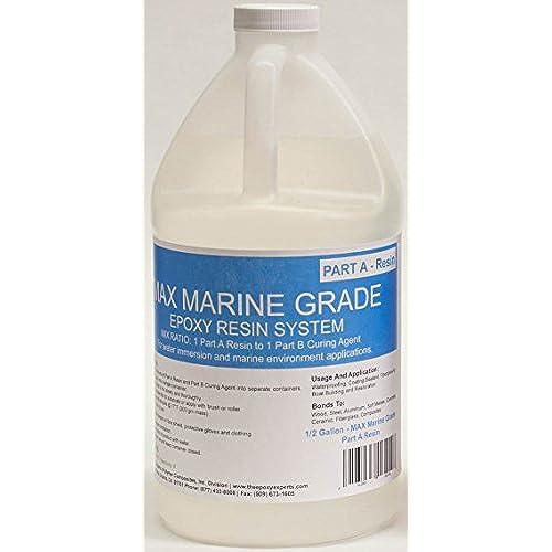 MAX MARINE GRADE Epoxy Resin System - 1 Gallon Kit - Wood