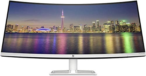 """HP 34f 34"""" Curved Monitor with AMD FreeSync Technology   Ultra-Wide Quad HD Resolution (3440 × 1440p), IPS Display, and 3-Sided Low Bezel, 1-Yr Warranty (6JM50AA)"""