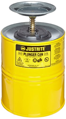 Plunger Can, Yellow ,Justrite, 10318