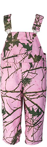 Infant - Toddler Camo Cotton Ranger Bib Overall W/Magnet, 5T, Pink Camo
