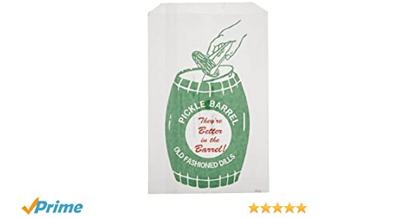 Classic Vintage Design Dill Pickle Bag 200 Pack by Avant Grub Turn Your Party into a Carnival with Paper Snack Sacks That Keep Pickles Contained and Fundraiser or Concession Stand Guests Mess-Free!