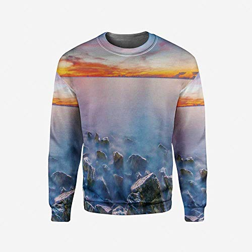 iPrint Men's Crewneck Rainbow Pullover Sweater by iPrint