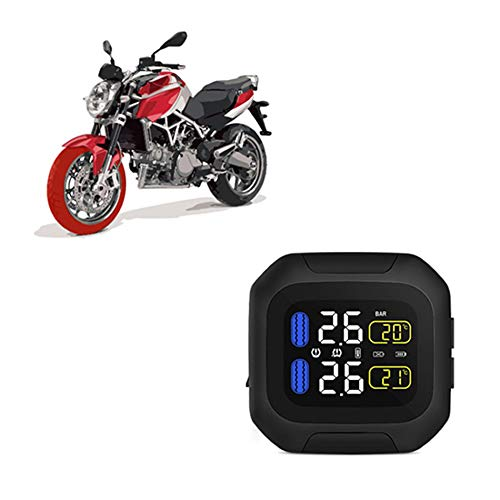 CAREUD Motorcycle Tire Pressure Monitoring System Wireless Motorcycle TPMS Tires Motor Auto Tyre Alarm System Waterproof with 2 External Sensors for Two-Wheeled Motorcycle(Sensor 18x13) by Careud (Image #4)