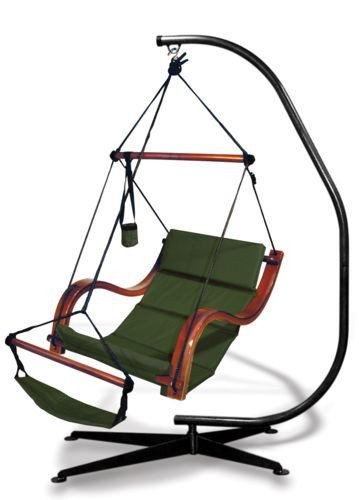 Hammaka Suelo Stand and Blue Nami Chair Combo , Hammocks , - Suelo Hammock Chair Stand