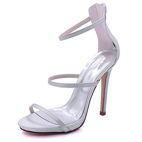 Silver 8 Da Tacco L A Sandali Prom Court Alto Sposa 7216 Donna yc 05 Con Spillo qwZ4EnPXfZ
