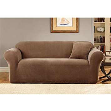 Sure Fit Stretch Metro 1 Piece Sofa Slipcover Brown Sf39404