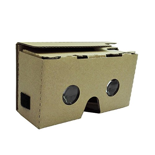 "Andoer Portable Head-Mounted DIY Google Cardboard V2.0 3D Glasses 3D VR Virtual Reality Video Glasses (Lenses: 25mm)for Up to 6"" Smart Phones"